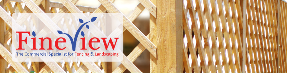 Fineview Landscapes: lattice fencing
